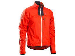 orange cycling jacket bontrager race stormshell jacket trek bikes