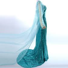 Queen Elsa Halloween Costume Aliexpress Buy Elsa Costume Princess Elsa Dress