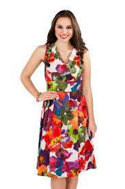summer dresses uk womens summer dress floral mid knee length 100 cotton size