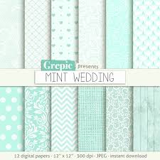 wedding scrapbook supplies mint color grepic clip illustrations digital paper