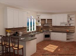 kitchen wood stove backsplash kitchen idea reclaimed trend pallet