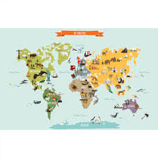 Map Wall Decor by The World Map Poster Wall Sticker Contemporary Wall