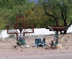 roadside crosses roadside memorials desert colors