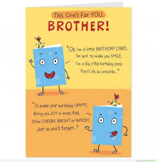 funny birthday quotes for younger brother funny birthday card for