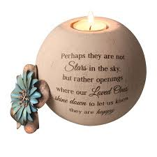 memorial tea light candle holder stars in the sky memorial tea light candle holder round globe