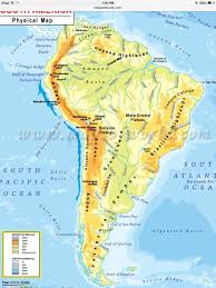 Geographical Map North America Physical Map Freeworldmapsnet South America South