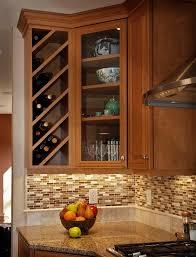 built in wine rack in kitchen cabinets surprising kitchen cabinet