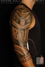 chest and shoulder tattoos maori polynesian tattoos on chest and left sleeve photos