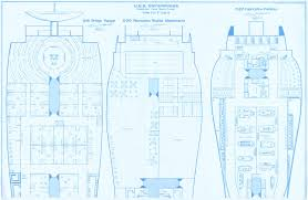star trek blueprints uss enterprise 15mm fasa deck plans