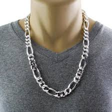 necklace figaro images Sterling silver figaro chain necklace 16mm gauge 400 available jpg