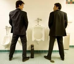 bathroom men men s bathroom urinal un written rules pinstriped