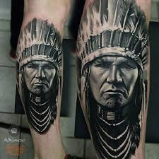 tattoos as imprints of indian headdress