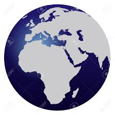 World Map Hemispheres by World Map Blue Globe Europe And Africa Stock Photo Picture And
