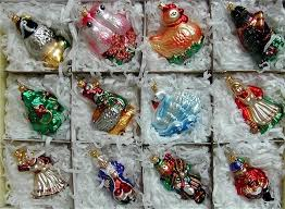 12 days of blown glass ornaments pertaining to