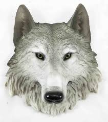 Wolf Home Decor by Grey Timber Wolf Wall Plaque Hanging Figurine Home Decor Plaque