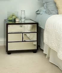 nightstand mirrored bedside tables gold coast rose table
