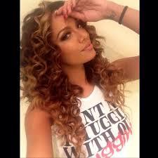 erica mena hair erica mena natural brown and blonde ombré with curls hair