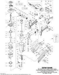 Bostitch Model M3 by Bostitch Gfn1564k Nailer Parts Bostitch Parts