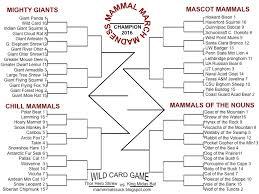 mammal march madness 2016 mammals milk