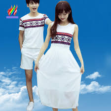 white honeymoon 2017 hot selling couples clothes for honeymoon wear
