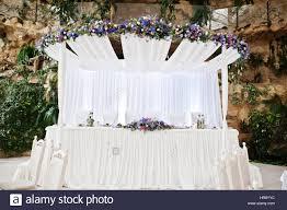 Wedding Arch Garden Great Wedding Arch With Table For Wedding Couple On Garden Hall
