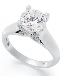 solitaire engagement ring x3 certified solitaire engagement ring in 18k white gold