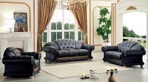 leather livingroom set versace leather sofa set by esf