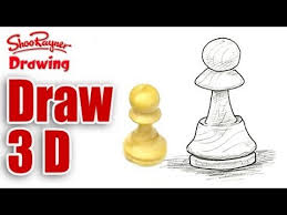 how to draw 3d objects youtube