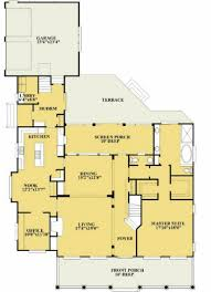 bedroom 45 bath cottage plan with open layout house plans 5
