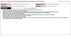 Profile On Resume Examples 100 Exle Of Electrician Resume Maintenance Electrician