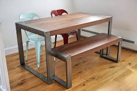 rustic table legs diy live edge wood dining room table with steel