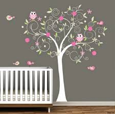 hibou chambre bébé decoration chambre bebe fille hibou visuel 3