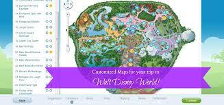 disney park maps customized maps for walt disney