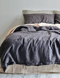 Tommy Hilfiger Duvet Linen Duvet Cover King Charcoal Tommy Hilfiger Denim Duvet Cover