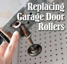 Installing Overhead Garage Door How To Replace Garage Door Rollers Pretty Handy