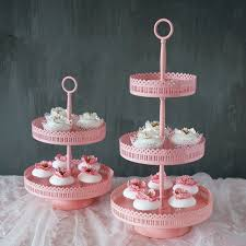 pink cake stand sweetgo 3 tiers cupcake stand pink iron metal cake stand tools for