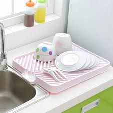 Dish Drying Rack For Sink Furniture Home Plastic Dish Drainer Tray Storage Holders Racks