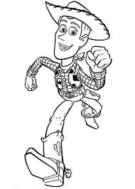 woddy running save buzz toy story coloring