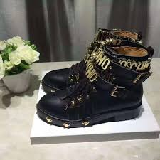 buckle motorcycle boots women studded genuine leather motorcycle boots lace up biker