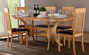 Dining Table And Six Chairs Solid Oak Extending Dining Table And 6 Chairs Modern Home Design