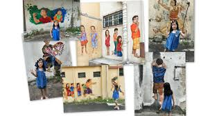 wall murals in ipoh little chumsy s blog a collage of the photos we took that day the missy was not a very keen model that day my favourite wall mural