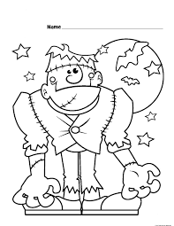 Halloween Pictures Printables Frankenstein Coloring Pages Getcoloringpages Com