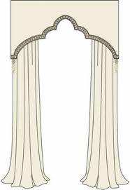 Window Cornice Styles Shaped Cornice With Nailhead Trim Windows And Soft Goods