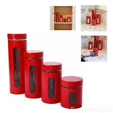 anchor hocking glass kitchen canister sets ebay