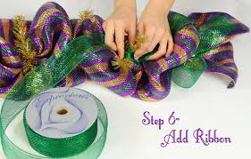 mardi gras deco mesh party ideas by mardi gras outlet mardi gras garland tutorial