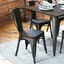 Industrial Dining Chair Metal Dining Room Chairs Glassnyc Co