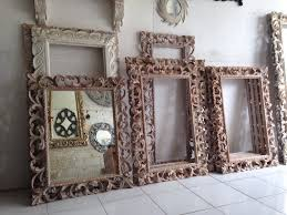 balinese style hand carved mirror frames kouboo global product