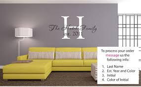 amazon com personalized last name and est date vinyl wall art