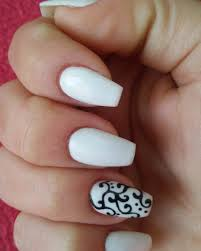 14 black and white easy nail designs simple black nail art