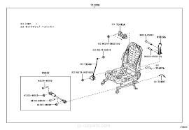 seat u0026 seat track toyota part list jp carparts com